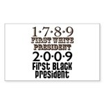 Presidential Firsts Sticker (Rectangle 10 pk)