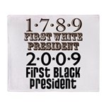 Presidential Firsts Throw Blanket