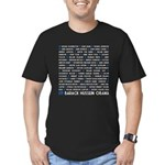 All Presidents up to Obama Men's Fitted T-Shirt (d