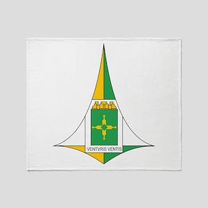 Brasilia Coat Of Arms Throw Blanket