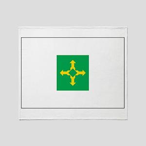 Brasilia Flag Throw Blanket