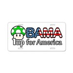Obama 1up for America Aluminum License Plate