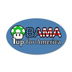 Obama 1up for America 38.5 x 24.5 Oval Wall Peel