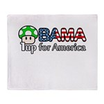 Obama 1up for America Throw Blanket