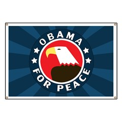Obama For Peace Banner