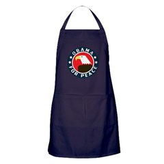 Obama For Peace Apron (dark)