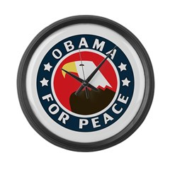 Obama For Peace Large Wall Clock