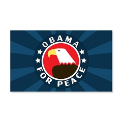 Obama For Peace 22x14 Wall Peel