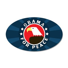 Obama For Peace 38.5 x 24.5 Oval Wall Peel