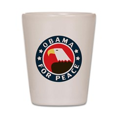Obama For Peace Shot Glass