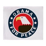 Obama For Peace Throw Blanket
