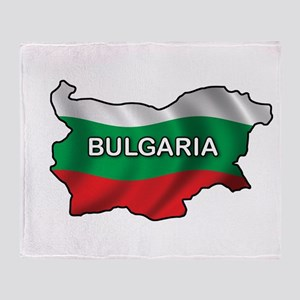 Map Of Bulgaria Throw Blanket