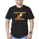 Fist Bump for Obama Men's Fitted T-Shirt (dark)