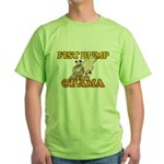 Fist Bump for Obama Green T-Shirt