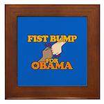Fist Bump for Obama Framed Tile