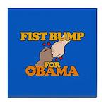 Fist Bump for Obama Tile Coaster