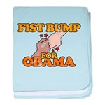 Fist Bump for Obama baby blanket