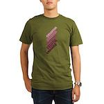 Stacked Obama Purple Organic Men's T-Shirt (dark)