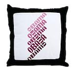Stacked Obama Purple Throw Pillow