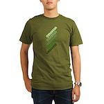 Stacked Obama Green Organic Men's T-Shirt (dark)