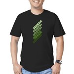 Stacked Obama Green Men's Fitted T-Shirt (dark)
