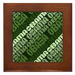 Stacked Obama Green Framed Tile
