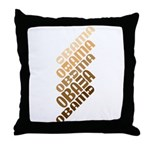 Stacked Obama Brown Throw Pillow