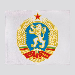 Bulgaria Coat Of Arms 1971 Throw Blanket