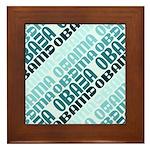 Stacked Obama Blue Framed Tile