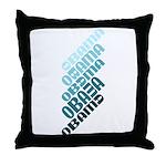 Stacked Obama Blue Throw Pillow