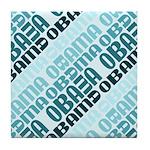 Stacked Obama Blue Tile Coaster