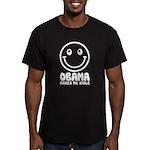 Obama Makes Me Smile Men's Fitted T-Shirt (dark)