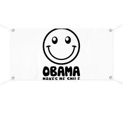 Obama Makes Me Smile Banner