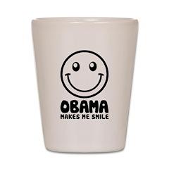 Obama Makes Me Smile Shot Glass