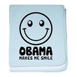 Obama Makes Me Smile baby blanket