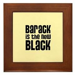 Barack the New Black Framed Tile