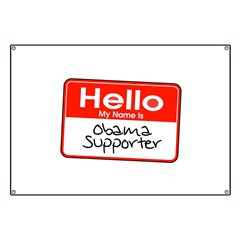 Obama Supporter Name Tag Banner