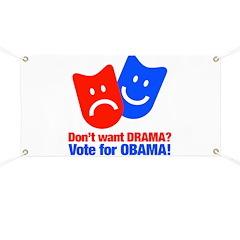 Vote Obama: No Drama! Banner