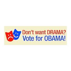 Vote Obama: No Drama! 21x7 Wall Peel