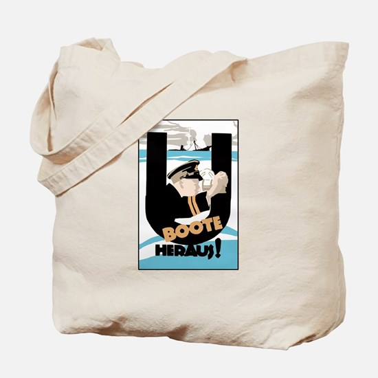 U-Boats Out War Poster Tote Bag