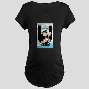 U-Boats Out War Poster Maternity Dark T-Shirt