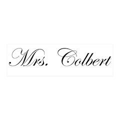 Mrs. Colbert 42x14 Wall Peel