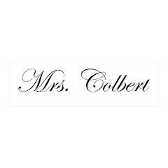 Mrs. Colbert 21x7 Wall Peel