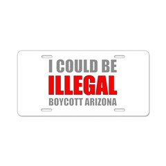 Could Be Illegal Anti-AZ Aluminum License Plate