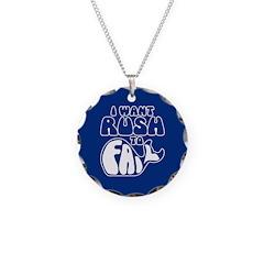 I Want Rush to Fail Necklace Circle Charm