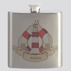 LIGHTHOUSE AND LIFEBELT Flask