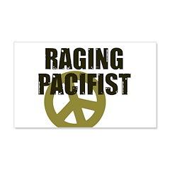 Raging Pacifist 22x14 Wall Peel