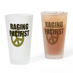 Raging Pacifist Pint Glass