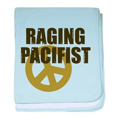 Raging Pacifist baby blanket