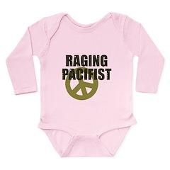 Raging Pacifist Long Sleeve Infant Bodysuit
